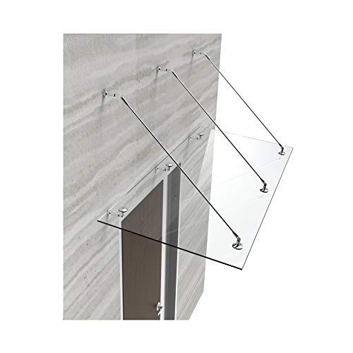 Glasvordach Vordach Türvordach Türdach 200x100 cm aus 13,14 mm starkem Verbundsicherheitsglas...