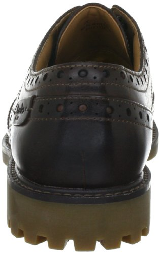 Clarks Montacute Wing 203510867, Scarpe stringate basse uomo Marrone (Dark Brown Lea)