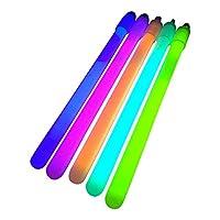 100x 6 inch Glow Sticks / Glow Batons (1cm Thick) - Premium Glowsticks from Glowtopia (Mixed) by Glowtopia