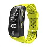 FEIFEIJ Smart Watch.S908 GPS Smart Band IP68 Waterproof Sports Wristband,Yellow