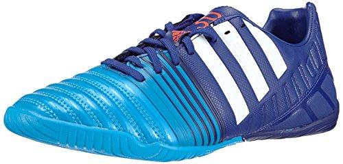 adidas Nitrocharge 3.0 Indoor, Scarpe da Calcio Uomo, Multicolore (Amazon Purple f14/ftwr White/Solar blue2 s14), 40 EU