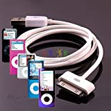 TECHGEAR® HIGH QUALITY OEM USB DATA CABLE FOR APPLE IPOD NANO 1GB, 2GB, 4GB, 8GB AND 16GB - WORKS FOR ALL GENERATIONS OF IPOD NANO (NOT 2012 7th GEN), INCLUDING COLOURS, VIDEO, CHROMATIC AND LATEST CAMERA MODEL , 1ST GEN, 2ND GEN, 3RD GEN, 4TH GEN, 5TH GEN AND 6TH GEN - iPOD NANO USB charging and sync cable compatible with Macs and PCs