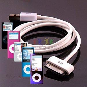 TECHGEAR® CÂBLE USB TRANSFERT DE DONNÉES HAUTE QUALITÉ OEM POUR APPLE IPOD NANO 1GB, 2GB, 4GB, 8GB AND 16GB - FONCTIONNE POUR TOUTES LES GÉNERATIONS DE IPOD NANO (NON 7ème GÉN 2012), Y COMPRIS LES APPAREILS PHOTO COULEURS, VIDÉO,CHROMATIQUE ET DERNIERS APPAREILS PHOTO MODÈLES 1ÈRE GÉN, 2ÈME GÉN, 3ÈME GÉN, 4ÈME GÉN, 5ÈME GÉN ET 6ÈME GÉN - IPOD NANO Câble USB Chargeur et Synchronisation compatible avec Macs et PC