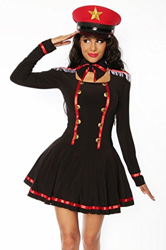 Kostüm Marine - Marine-Kostüm - schwarz/rot/weiß - S