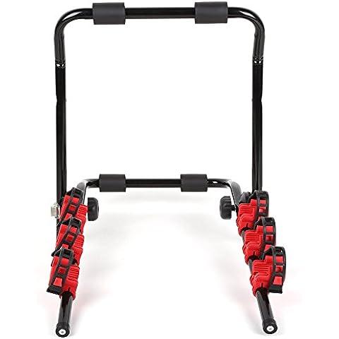 Femor Soporte de Bicicletas para Maletero de Coche Portabicicletas Trasero Portador de transporte Carga de 40KG 3 Bici