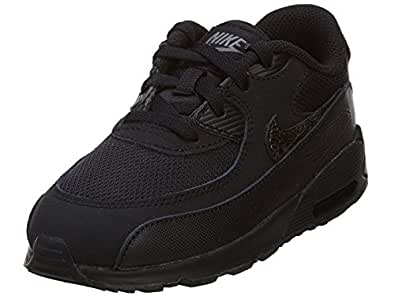 Nike Air Max 90 Mesh Bébé Noire Noir 21