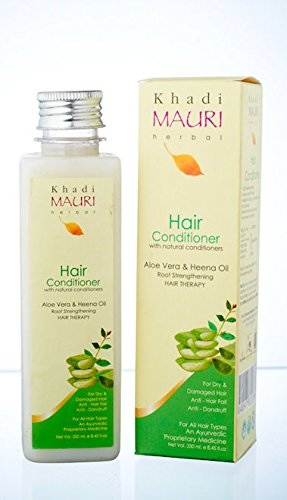 KHADI Herbal Hair Conditioner- 250 ml- Herbal Hair Therapy- Enriched with Aloe Vera & Heena Oil