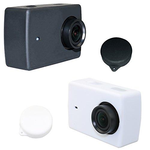 Deyard Y-04 in silicone protettiva in gomma Custodia + obiettivo COPRITESTA per la macchina fotografica (Custodia Protettiva In Gomma)