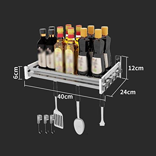 Étagère de bol Étagère de cuisine en acier inoxydable Suspension de mur sur le mur Assaisonnement Étagère Drain Rack Filtre Pots d'eau Condiment Frame (edition : A)