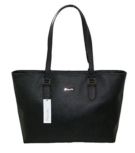 Borsa POLLINI SC4523 woman handbag shopping saffiano pu nuova collezione NERO