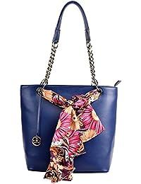 Diana Korr Women's Handbag (Blue) (DK26HBLU)