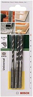 Bosch Uneo - Juego de brocas multifunción (3 piezas)