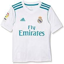 adidas 1 Divisa Real Madrid 2017-2018 H Jsyy Lfp, Maglietta Bambino, Bianco/Azzurro, 128