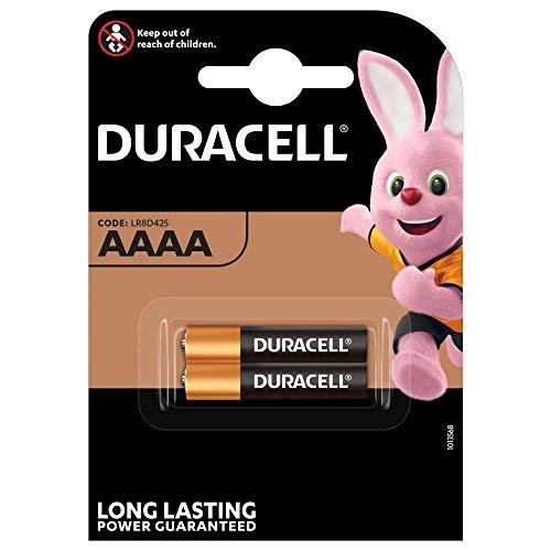 Duracell Specialty Alkaline AAAA Batterie 1,5V, 2er-Packung (LR8D425) entwickelt für den Einsatz in Digitalstiften, medizinischen Geräten und Stirnlampen