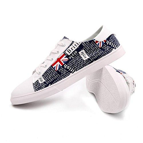 Men's British Style Lace Up Anti Skid Skateboarding Shoes 2