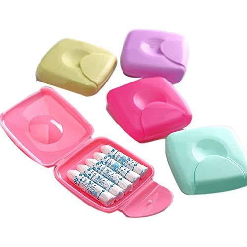 Tampons-box (Tampons Aufbewahrung Portabel Box Damen Tampons Aufbewahrungsbox Halter für Reisen Außen Farbe Zufällige)