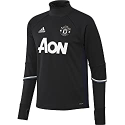 adidas - Manchester United Trg Top - Sweat-shirt - Homme - Noir (Negro/Maruni/Blatiz) - Taille: XS