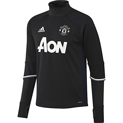 adidas Herren Manchester United Training Top Trainingstop, Black/Collegiate Navy/Chalk White, XS - United Pullover Manchester