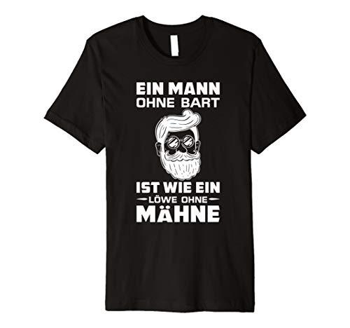 Herren T-Shirt Bart Bartwuchs Vollbart Bärte Motiv rasieren Spruch