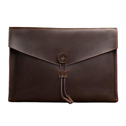 Yiiquan Herren Klassisch Kunstleder Geschäft und Freizeit Tasche Multifunktionale Aktentasche Vintage-Stil Handtasche Coffee#1