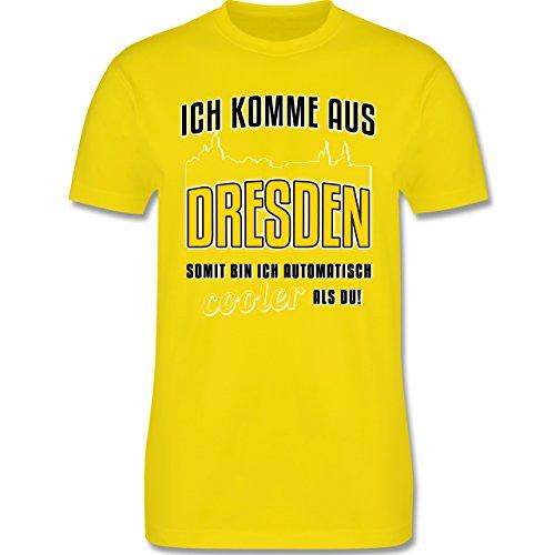 Städte - Ich komme aus Dresden - Herren Premium T-Shirt Lemon Gelb
