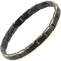 sisto-x ® Damen Armband Magnetarmband Titan Schwarz/Gold Bali Magneten aus seltener Erde Heilung preisvergleich bei billige-tabletten.eu