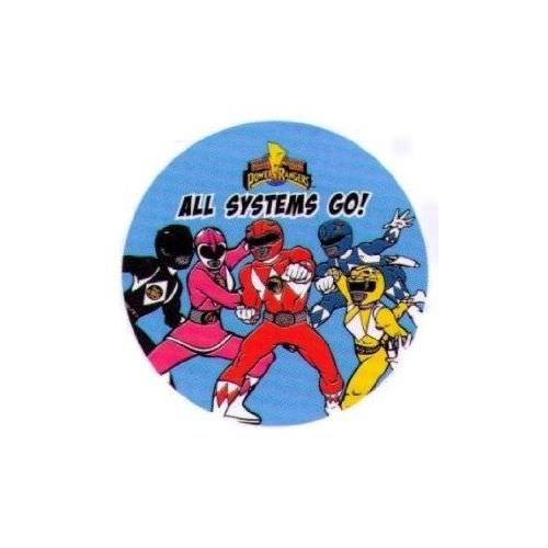Rangers All Systems Go 3 Inch Button ()