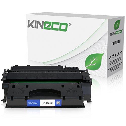 Kineco Toner kompatibel zu HP CF280X Laserjet Pro 400 M401dn, M401dw, MFP M425dn, M425dw - Schwarz 6.900 Seiten