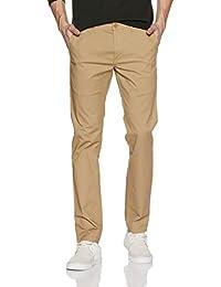 Symbol Men's Slim Fit Cotton Casual Trousers