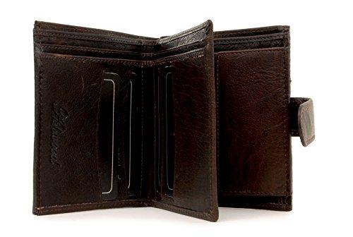 Purse - Ashwood - Pieghevole Per Monete E Banconote Da Appassionato Con Il Regalo - Dimensioni: B: 10 H: 12 T: 2 Cm Marrone