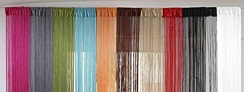 Fadenvorhang UNI 90x245cm - versch. Farben wählbar, Fadenvorhang mit Stabdurchzug,Fadengardine,