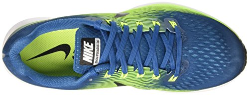 Nike Air Zoom Pegasus 34, Scarpe da Corsa Uomo Multicolore (Industrial Blue/Black/Volt/Chlorine Blue/White)