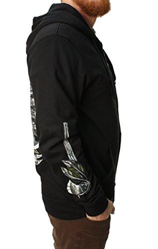 Metal Mulisha Hoodie / Fleece SCALPED ZIP UP Schwarz Black