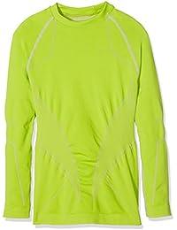Spaio Intense Camiseta de niños de mangas largas, lima gallega/gris claro, 116-122