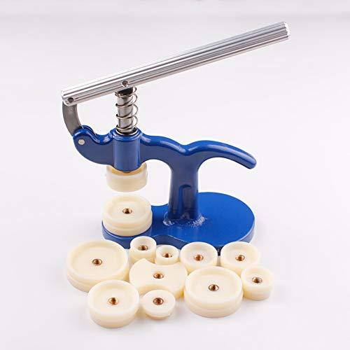 Zhuowei Allright Uhr Einpresswerkzeug Uhr Reparatur Werkzeug Uhrenschließer Uhren Gehäuseschließer Uhrmacherwerkzeug Stifte Gehäuseöffner,Blau