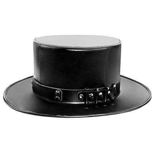 JAYLONG Steampunk Kostüm Vintage Leder Top Hut, Nieten, Viktorianische Gotische Accessoires Für Cosplay Halloween Masquerade (Halloween-kostüme Gotische Viktorianische)