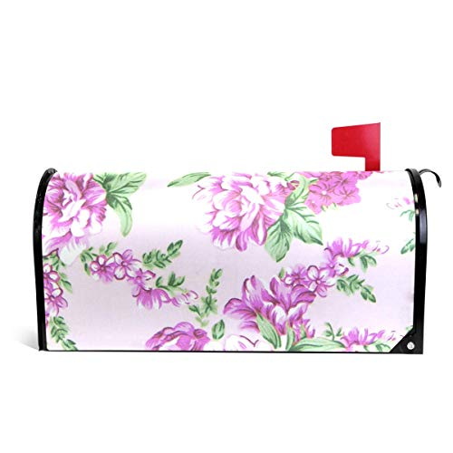 prz0vprz0v Tapestry Flowers Both Sides Picture Magnetic Mailbox Cover 21 x 18 Inches Waterproof Canvas Mailbox Cover - Tapestry Garden Flags