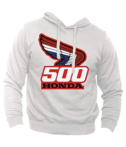 Generico Felpa Ispirata Honda 500 Maik Hailwood Four CB Vintage Moto Bike Hoodie (M, Blu Navy)