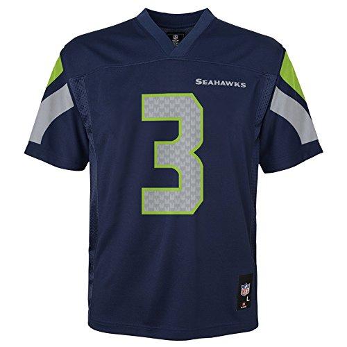Outerstuff NFL, Seahawks-Trikot für Kinder, Wilson, Marineblau, Kinder-Größe S Größe L dunkles marineblau (Fußball-trikot Russell)