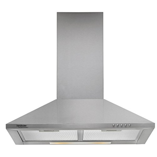 Hindware 60cm 700 m3/hr Chimney (Clarissa SS 60, 2 Cassette Filters, Steel/Grey)