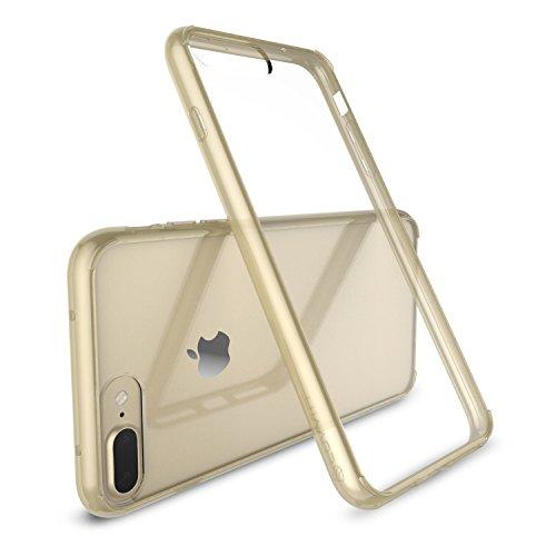 iPhone 7Plus Coque, Luvvitt [Transparent] Coque arrière hybride résistant aux rayures avec bumper antichocs pour Apple iPhone 7Plus-Crystal Clear