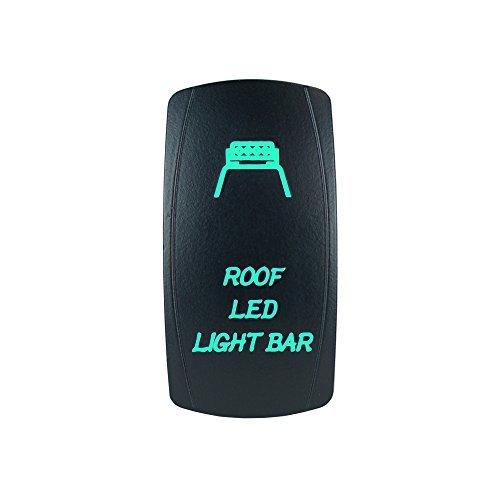 STVMotorsports Laser rétro-éclairé Vert Rocker Switch Toit LED Light Bar 20A 12V on/Off LED Lumière Stv Motorsports