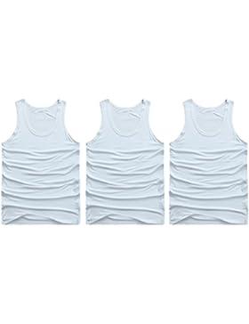 Zhhlaixing Hombres Chaleco Camisa [3 PCS-White]Men Body Slimming Shirt Tummy Waist Vest Lose Weight Shirt