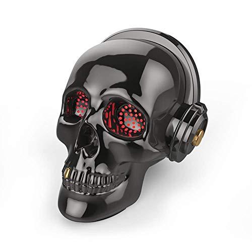 Humorvolle Maske Maskerade Prom Maske Schädel Bluetooth Lautsprecher LED Wireless Skeleton Lautsprecher Super Bass Stereo Sound Cooles Design Mit Augen Licht Für Halloween Einzigartiges Geschenk Home