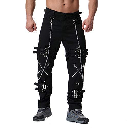 pantaloni della tuta Xmiral pantaloni della tuta da jogging uomo Jogger sexy casuale (negro,si tratta di 34-36)