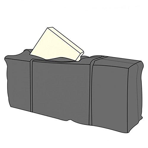 Lex Housse de protection Deluxe pour 4 meubles de jardin auflagen, 125 x 32 x 50 cm, Sac de transport avec poignées et fermeture Éclair