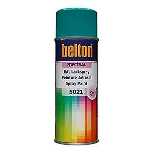 RAL 5021 BLEU EAU Mat (BELTON) (Bombe peinture 400 ml) - bombe aerosol reparation peinture carrosserie voiture teintes standrard et RAL (reference couleur constructeur 150 ou 400 ml)