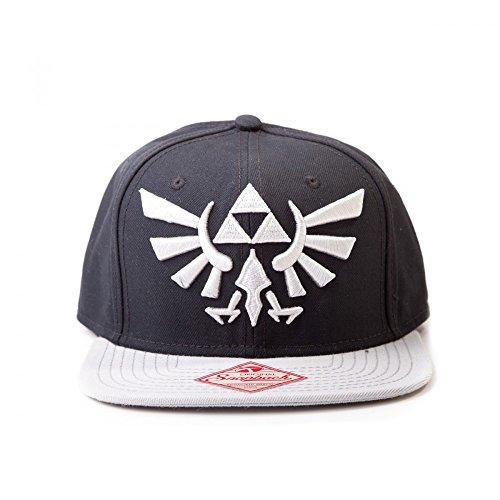 Zelda Logo Cap | Snapback | Schwarz/Grau | 100% Acryl | Original Unisex