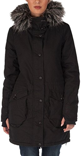 Bench Damen Jacke Parka Wolfish II C schwarz (Jet Black) Small