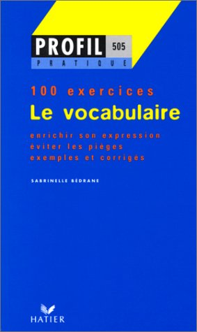 Le vocabulaire